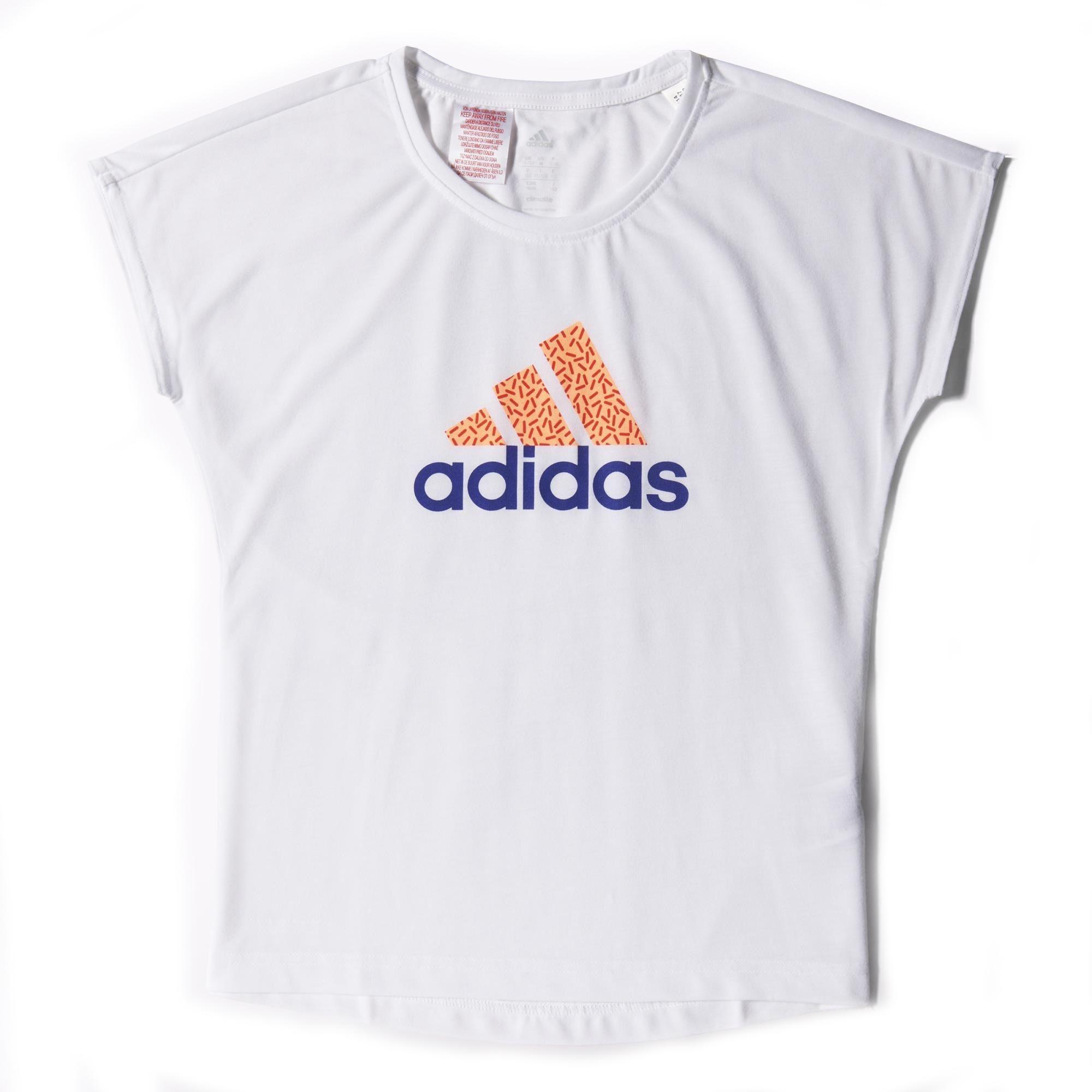 meisjes sport shirt Adidas S16417 ME WIT