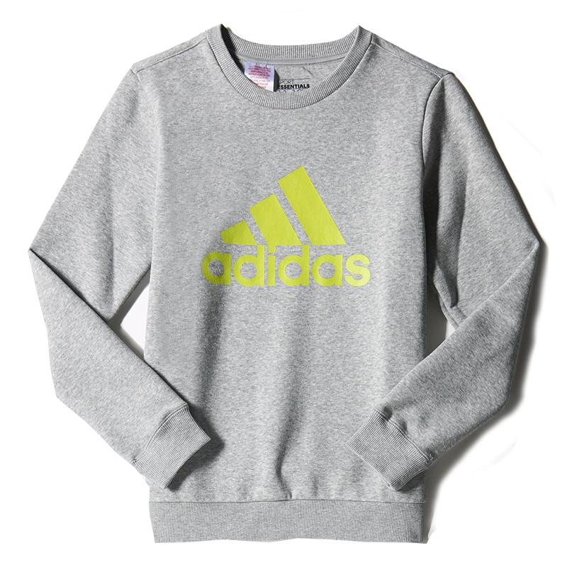 jongens sport sweater Adidas ronde hals S23195 midden grijs