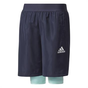 Adidas 2in1 short Junior voetbalbroekje marine