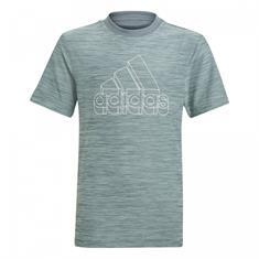 Adidas B A.R HTR TEE jongens sportshirt blauw dessin