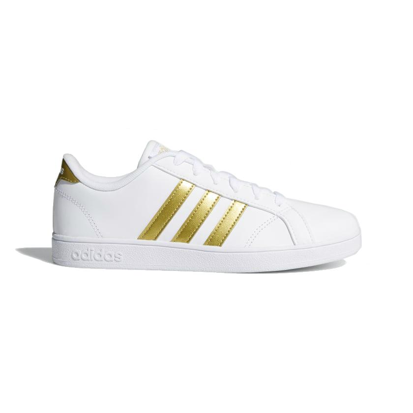 low priced 4efbd 2e360 Adidas baseline meisjes schoenen witstijl is slechts het begin. deze casual  leren kinderschoen heeft simpele
