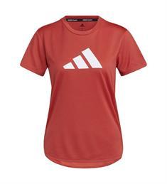 Adidas Bos Logo Tee dames sportshirt rood