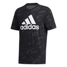 Adidas Essential Allover Print heren sportshirt zwart