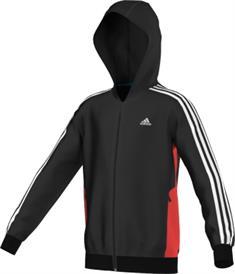 Adidas F48494 jongens sportsweater zwart