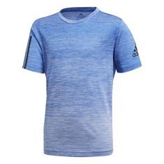 Adidas Gradient Tee Y jongens sportshirt blauw