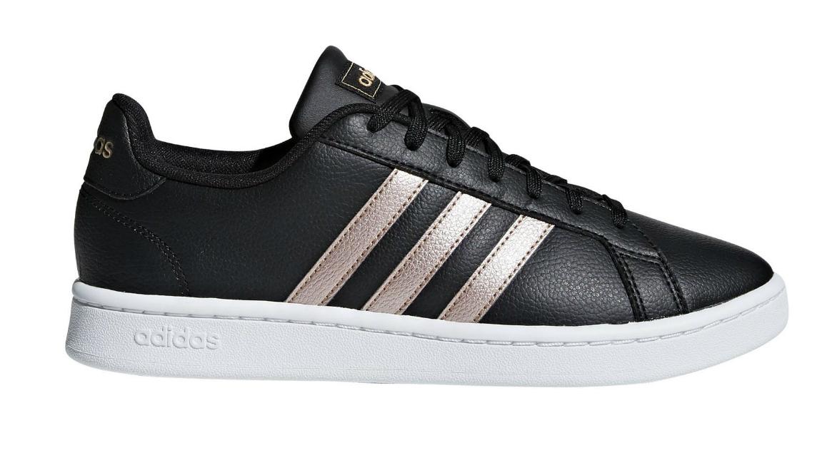 Adidas Grand Court dames sneakers zwart