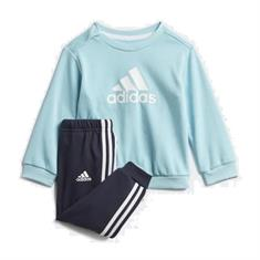 Adidas I BOS Jog FT junior trainingspak blauw