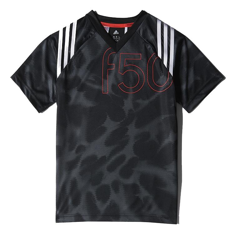 kinder sport shirt Adidas S16566 F50 JR zwart dessin