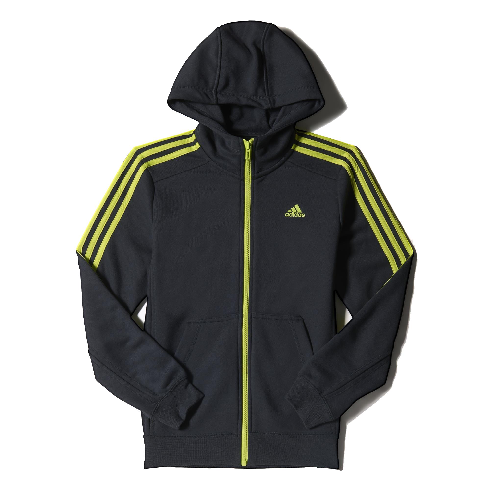 jongens sport sweater Adidas S23265 antraciet