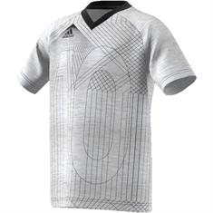 ADIDAS junior voetbalshirt licht grijs