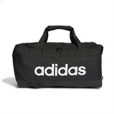 Adidas LINEAR DUFFEL S.BLACK/WHITE sporttas zwart
