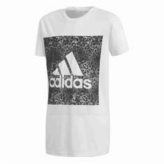 Adidas Logo Loose Tee meisjes sportshirt wit