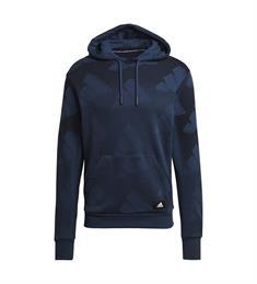 Adidas M FI GFX PO heren casual sweater blauw dessin