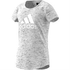 Adidas meisjes sportshirt licht grijs