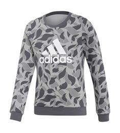 Adidas meisjes sweater grijs dessin