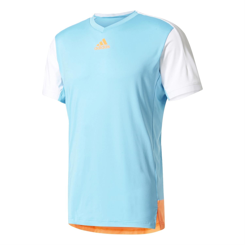 Adidas Melbourne Tee heren tennisshirt blue