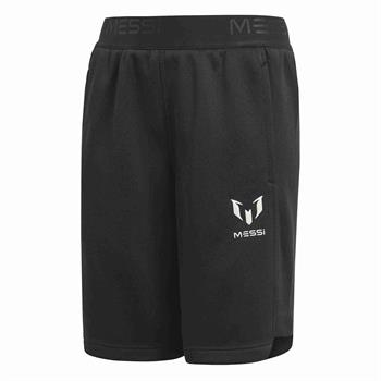 Adidas Messi Knit Short Junior voetbalbroekje ZWART