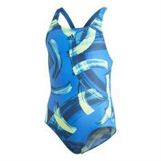 Adidas Par Short meisjes badpak blauw dessin