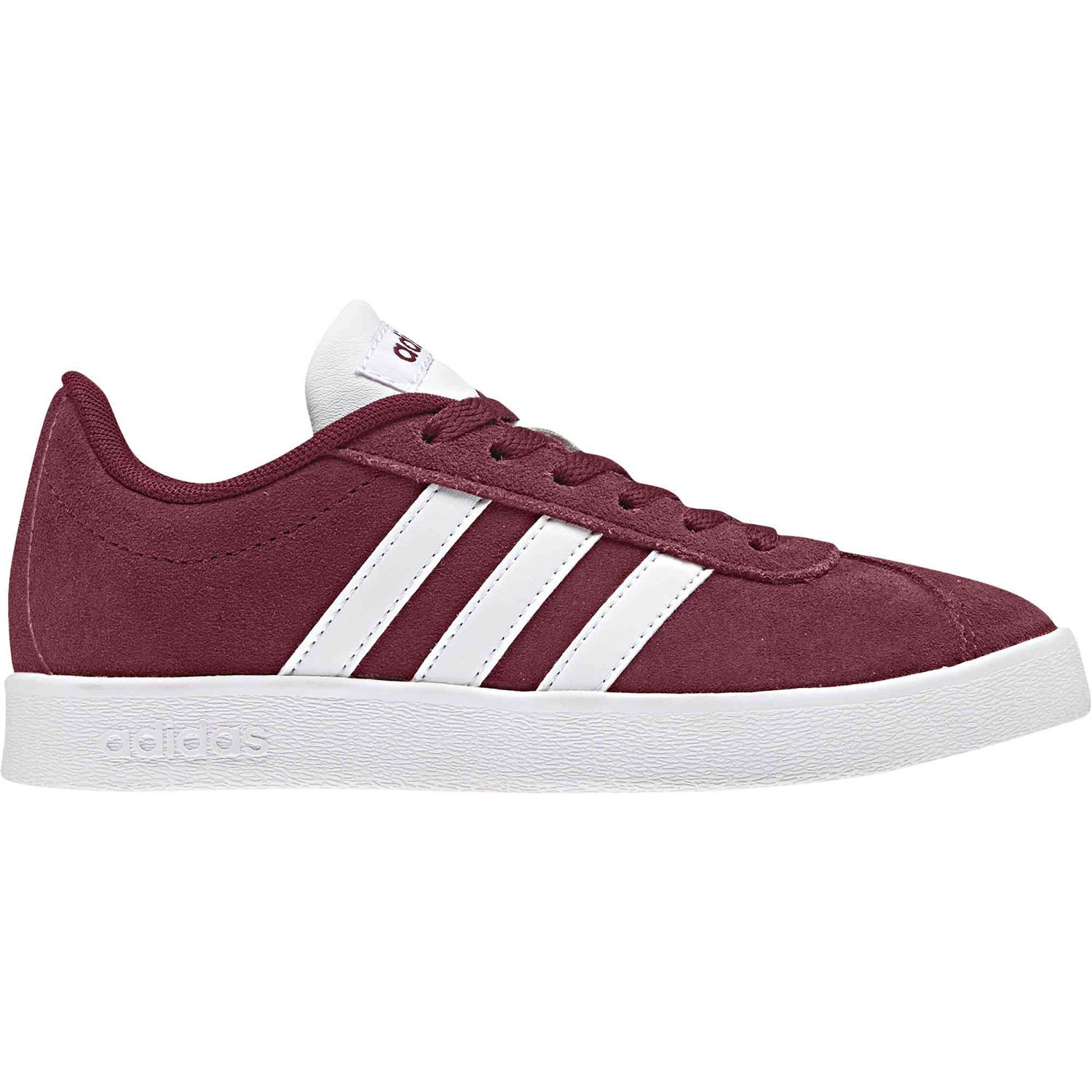 56f1d9821b6 ADIDAS VL Court junior schoenen bordeau