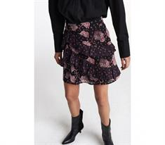 Alix The Label Flower Paisley Ruffled dames casual rok rood dessin
