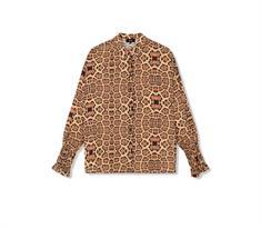 Alix The Label Woven Jaguar dames blouse bruin dessin