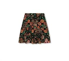 Alix The Label Woven Multi Colour Chiffon dames casual rok zwart dessin