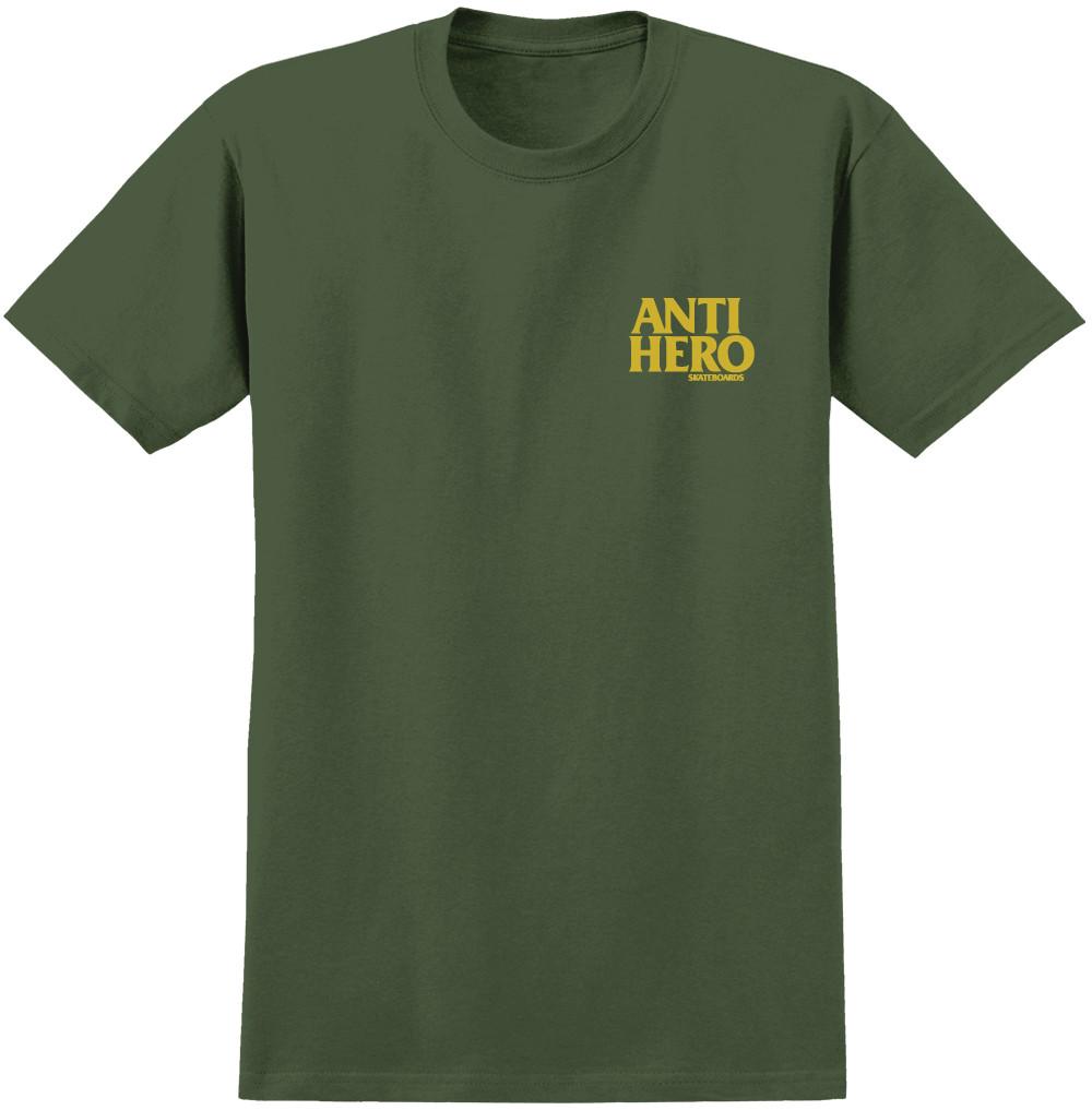 Afbeelding van Anti Hero Lil Blackhero Heren shirt donkergroen
