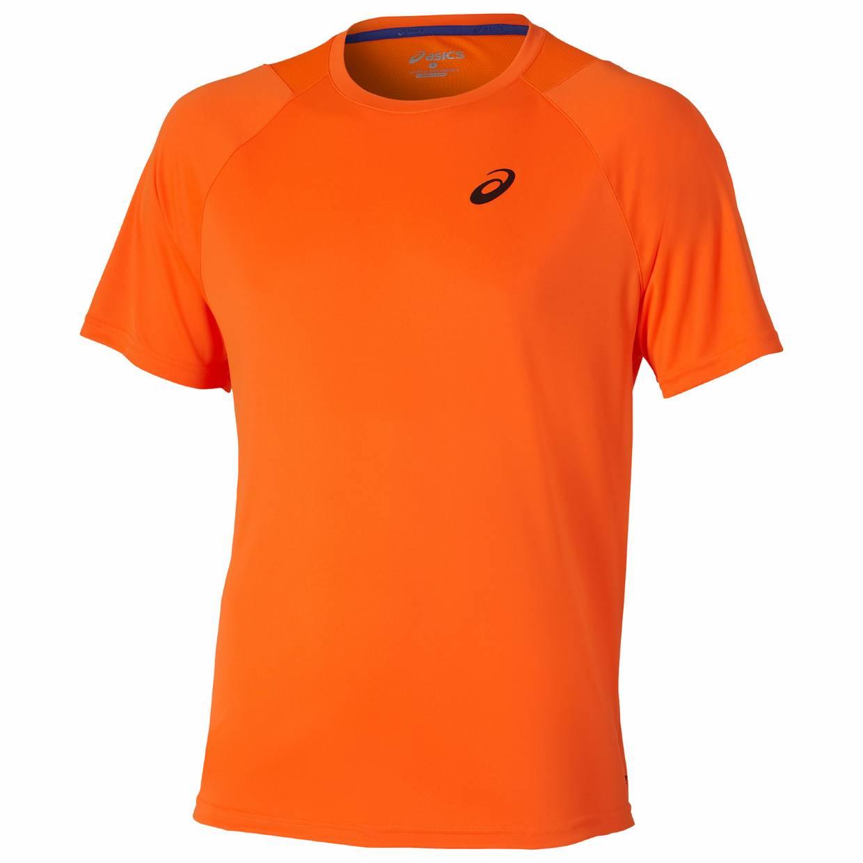heren shirt Asics Club Short SleeveTee 121689.0521 oranje