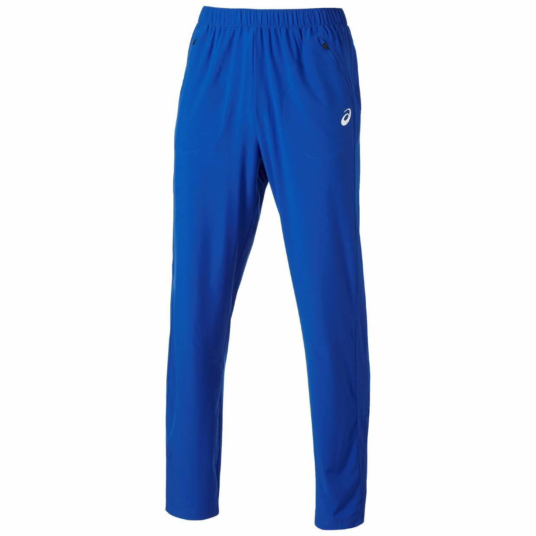 heren sport broek Asics Club Woven Pant 122769.8107 kobalt