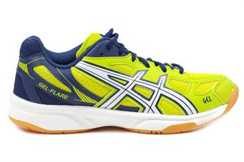 Asics Gel Flare 5 Junior indoorschoenen GEEL