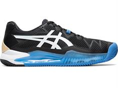 Asics Resolution 8 heren tennisschoenen zwart