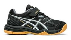 Asics Upcourt 4 junior indoorschoenen zwart