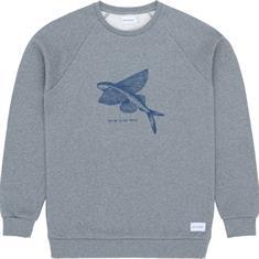 Baskinthesun Flying Fish heren casual sweater grijs