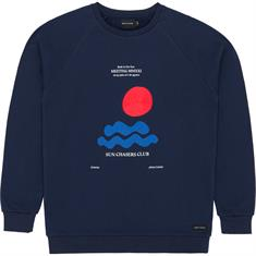 Baskinthesun Meeting heren casual sweater marine