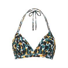 Beach Life 106 Mystic Animal Foam Wired bikini top groen dessin