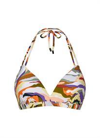 Beach Life Artisan halter bikini top wit