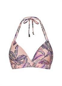 Beach Life Tropical Blush halter bikini top zalm