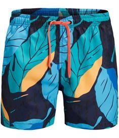 Björn Borg Swim Short BB Leaf heren beach short blauw dessin