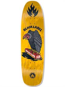 Black Label Vulture Curb Club 8.875 skateboard geel