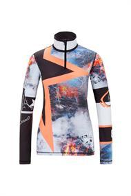 Bogner 5489 Ilvy dames ski pulli met rits zwart dessin
