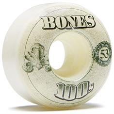 Bones 100's V4 Naturals 53MM 100A wielen wit