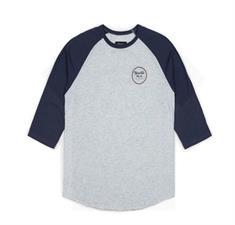 brixton Wheeler 3/4 heren shirt midden grijs