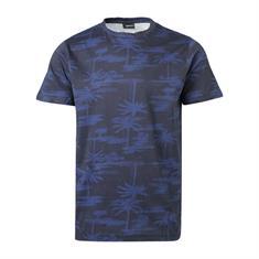 Brunotti Ben-AO heren shirt blauw dessin