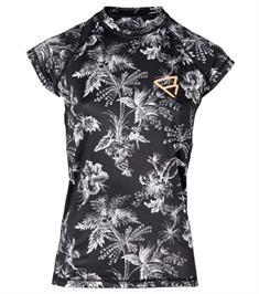 Brunotti Glow Rashguard SS uv shirt dames zwart dessin