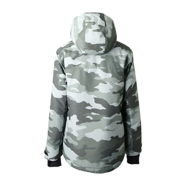 Brunotti Gullies jongens ski/snowboard jas groen dessin
