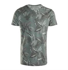 Brunotti Jason Leaf Tee heren shirt groen dessin