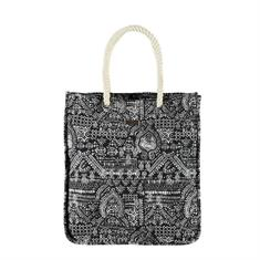 Brunotti Manu Women Bag strandtas zwart dessin