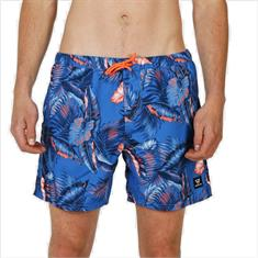 Brunotti Tasker Flower blue Wave heren beach short kobalt