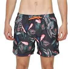 Brunotti Tasker Flower heren beach short grijs dessin