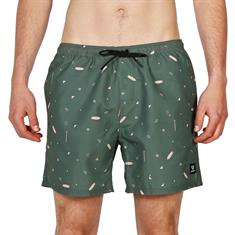 Brunotti Tasker Mini heren beach short groen dessin